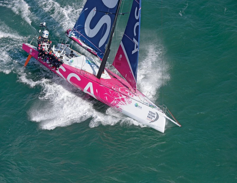 October 4 2013 - Team SCA sailing trials in the English Channel SLW1014_SW volvo