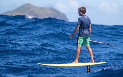 2030. La Route du Rhum se court en stand up paddle à foil…